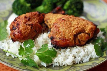 Pollo tandoori con riso basmati