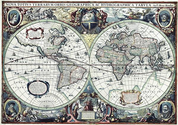 Mappa del mondo antico