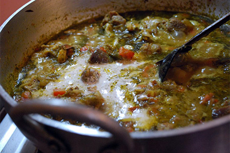 Minestrone al curry verde thai
