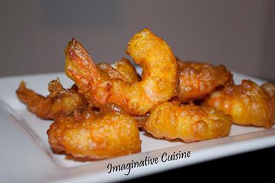 Gamberi in tempura speziata