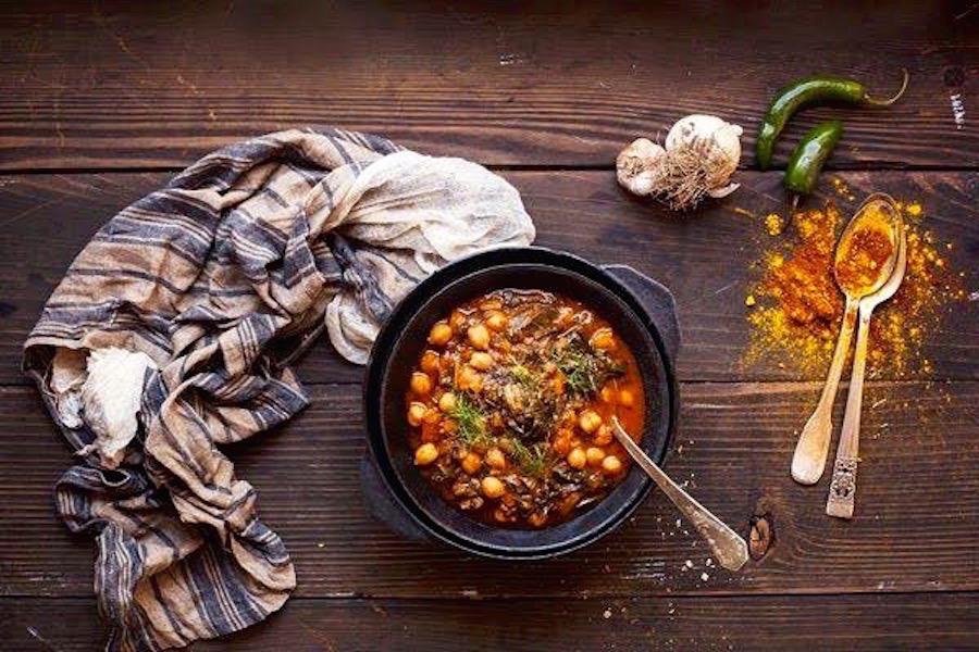 Zuppa di Ceci e pepe cayenna