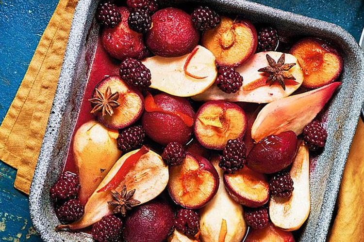 Frutta arrostita alla vaniglia