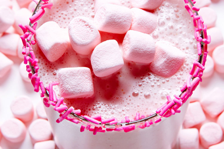 Milkshake con marshmallow