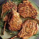 costolette di agnello all'arancia e alla senape
